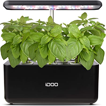 Amazon Com Idoo Hydroponics Growing System Indoor Herb Garden Starter Kit With Led Grow Light Smart Garden Planter For Home Kitchen Automatic Timer Germination Kit Height Adjustable 7 Pods Garden Outdoor