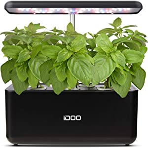 iDOO Hydroponics Growing Indoor Herb Garden Starter Kit