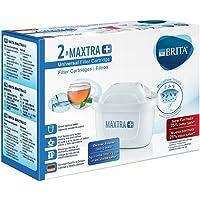 BRITA MAXTRA+ – Pack 2 filtros para el agua, Cartuchos filtrantes compatibles con jarras BRITA que reducen la cal y el…