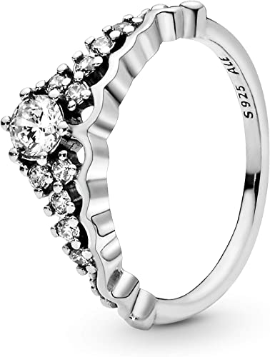 Amazon Com Pandora Jewelry Fairytale Tiara Ring For Women In