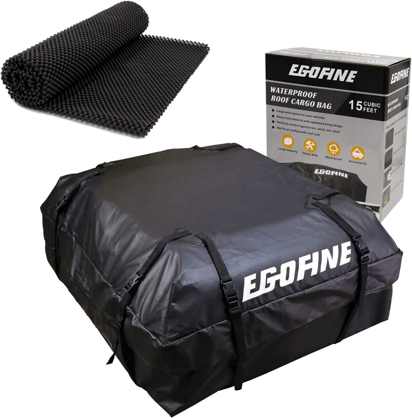 Egofine Car Roof Bag with Protective Mat