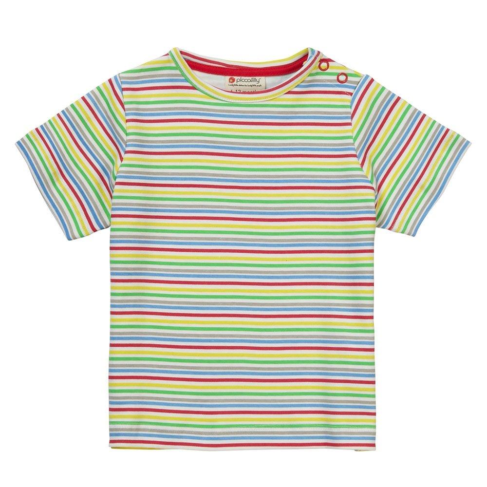 Piccalilly Camiseta, Jersey de Algodón Orgánico, Unisex, Rayas de Arco Iris: Amazon.es: Ropa y accesorios