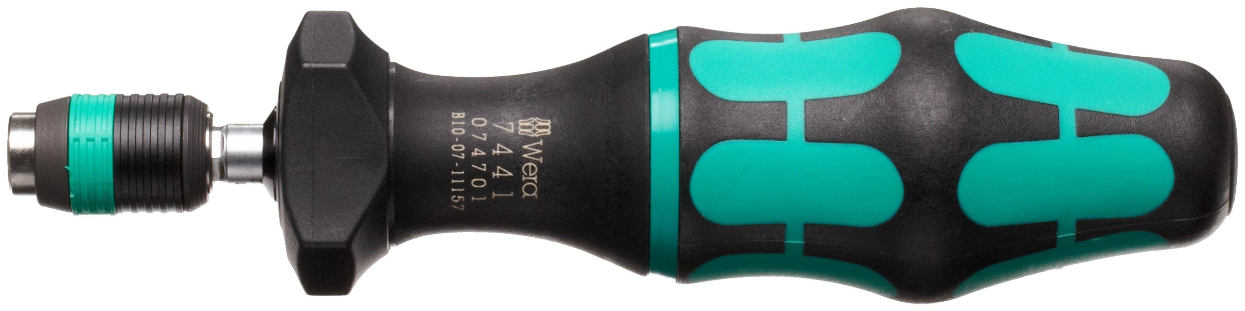 Wera 05074701001 Kraftform 7441 Hexagon Torque Screwdriver, 1/4'' Head, 1.2-3.0 Nm Variable Torque Adjustment Range