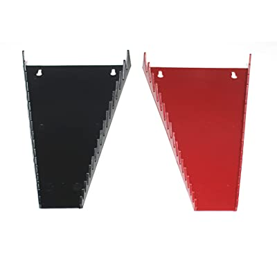 JSP Manufacturing Red & Black 16 Tool Standard Wrench Holder Wrench Organizer 2 Pack | Storage Rack Tray Tool Holder: Automotive [5Bkhe2004158]