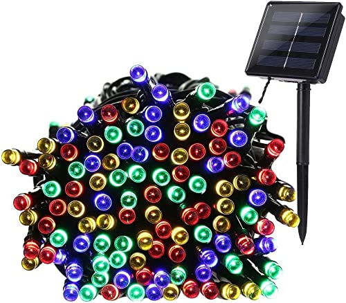 Qedertek Solar String Lights, 72ft 200 LED Multi Color Fairy Decorative Lights for Indoor Outdoor , Home, Garden, Porch, Patio, Party, Holiday and Party Decorations