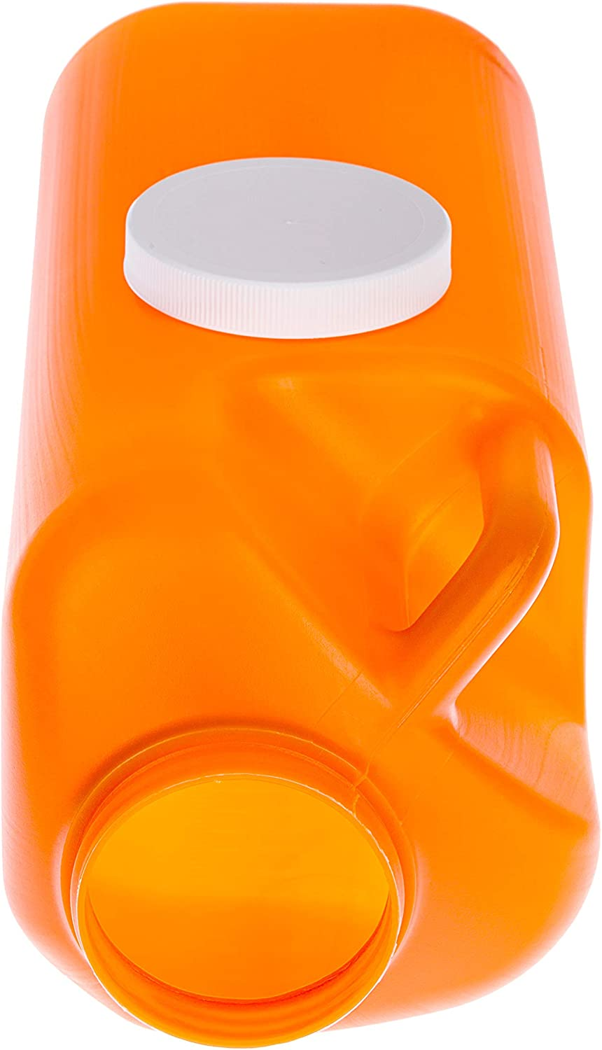 Large Male Urinal with Leak Proof Screw Cap Lid (3000 mL or 101 oz.) (Amber Color): Health & Personal Care