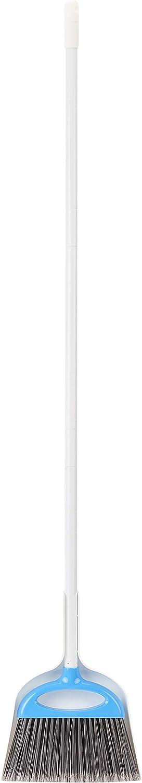 AmazonBasics Dustpan Broom Set, Blue and White