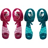 Portable Misting Fan Personal Cooling Water Mist Handheld Travel Humidifier Batteries Not Included, Set of 4