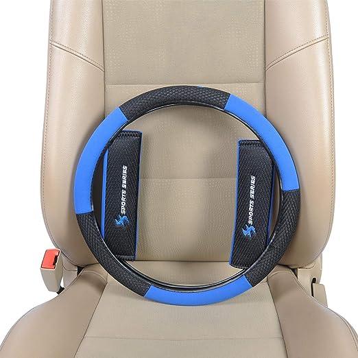 7264+7132 Negro//Azul alfombrillas Fundas para asientos de coche