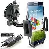 KFZ Halterung inkl. KFZ Ladekabel für Samsung Galaxy S7 / S7 edge / S6 / S6 edge / S6 edge+ / S5 / S5 mini / S5 neo / S4 / S4 mini / S3 / S3 mini / S2 / S2 Plus / S / A3 / A5 / J1 / J5 / Auto Halter Ladegerät