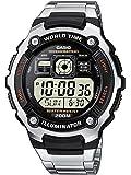 Casio Collection – Herren-Armbanduhr mit Digital-Display und Edelstahlarmband – AE-2000WD-1AVEF