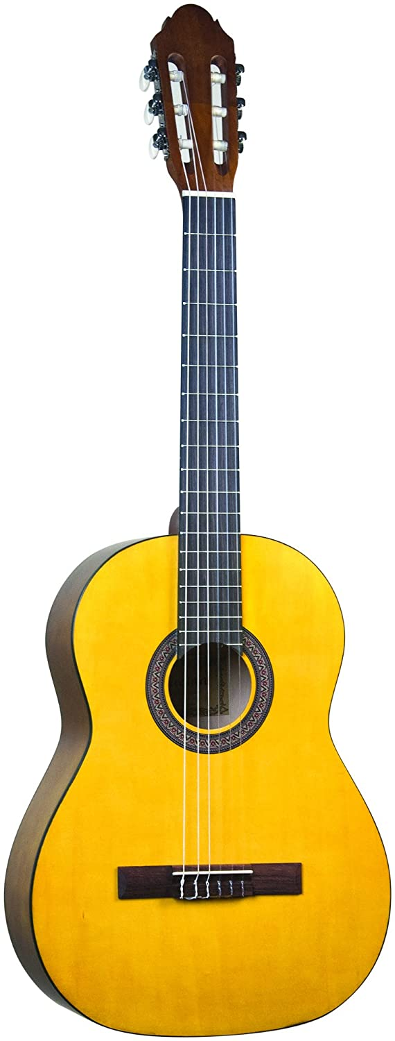 Lucida LG-400-3/4BK Student Classical Guitar, Black, 3/4 Size