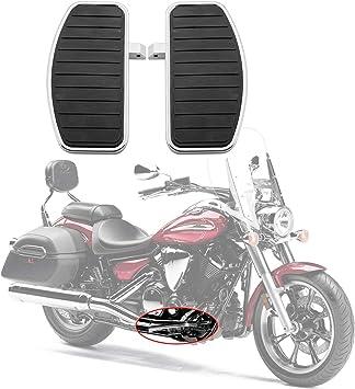 Artudatech Motorrad Fußpedal Front Fahrer Trittbrett Fußstütze Fußrasten Motorrad Fußraste Für Hon Da Vtx 1800 1300 Su Zu Ki Vl800 Vl400 C50 Yamaha V Star Auto