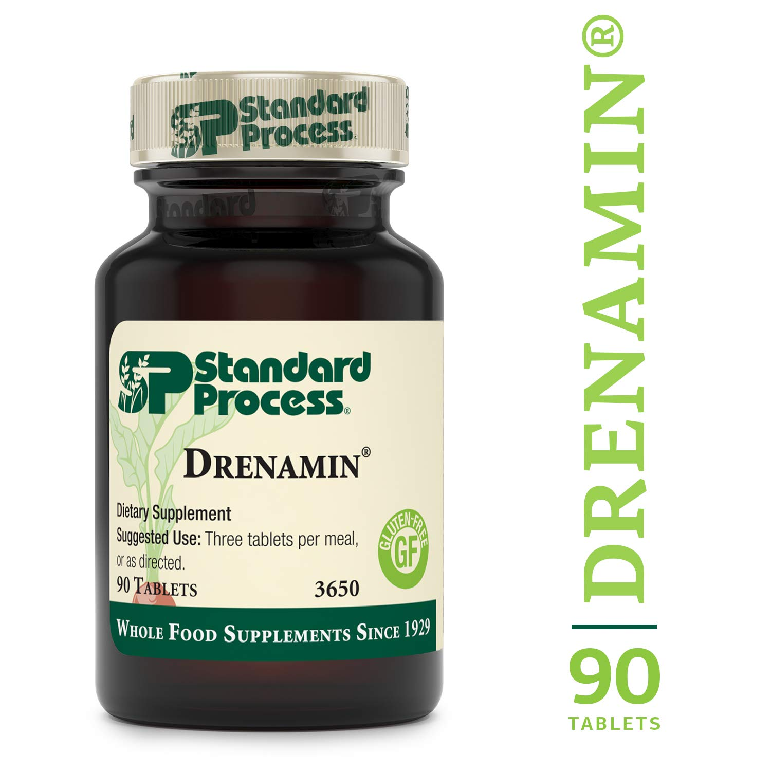 Standard Process - Drenamin - Supports Immune System Function, Energy Production, and Balanced Mood, Source of Antioxidant Vitamin C, Riboflavin, Niacin, and Vitamin B6, Gluten Free - 90 Tablets by Standard Process