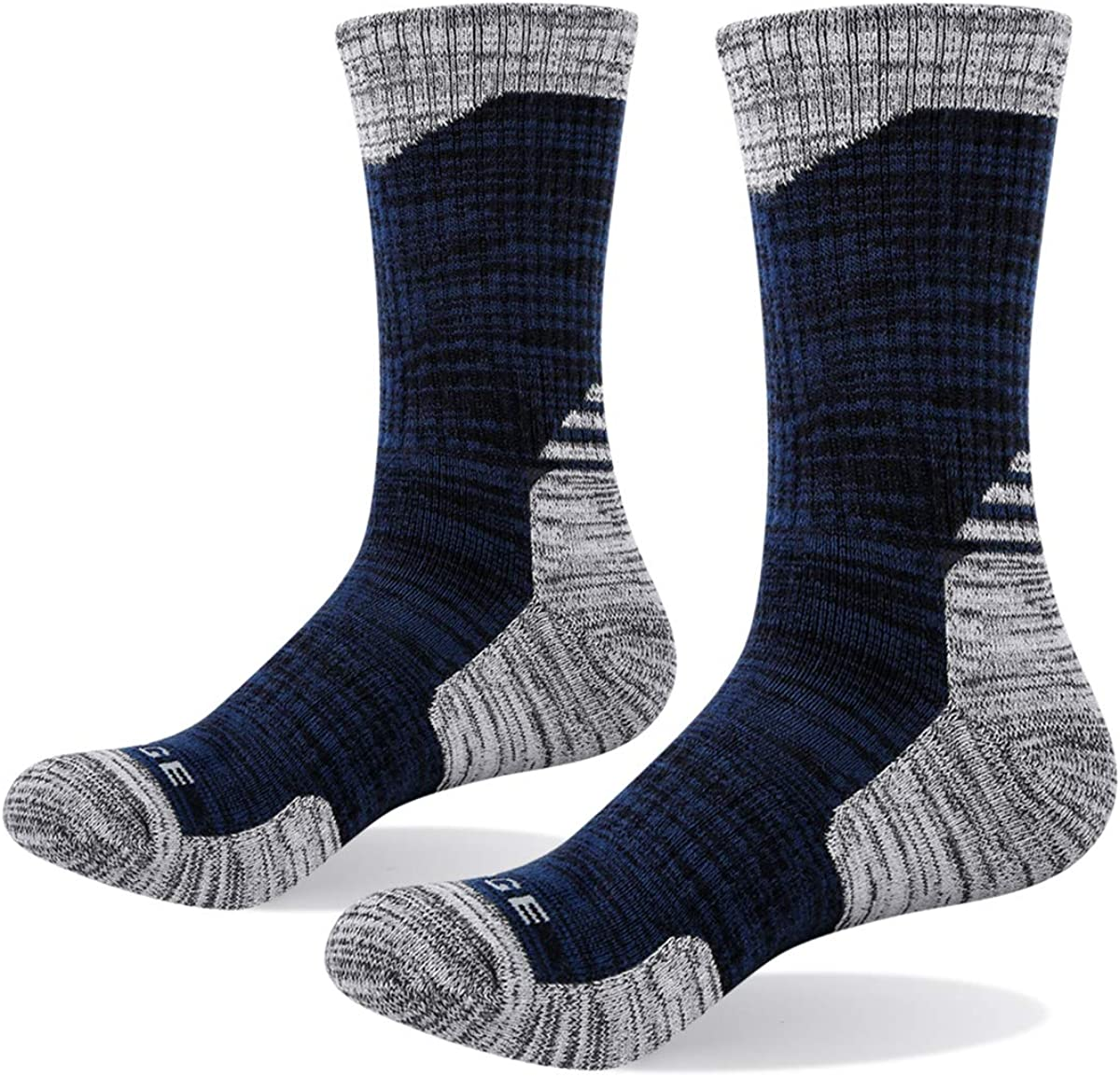 3 Pairs Pack YUEDGE Mens Breathable Cushion Cotton Athletic Crew Sports Hiking Walking Socks