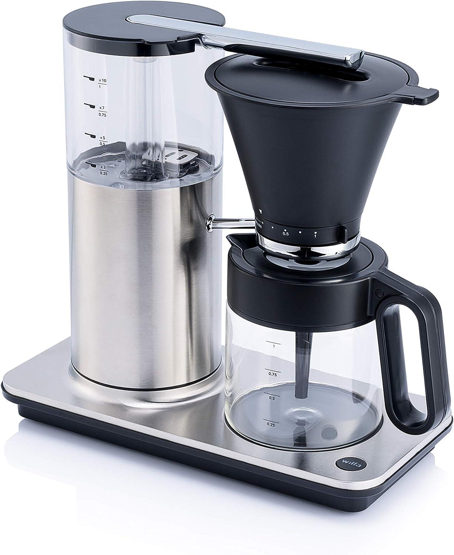 Cafetera de acero Cafetera de goteo Wilfa CLASSIC PLUS sistema antigoteo manual blanca mate 1 litro de capacidad