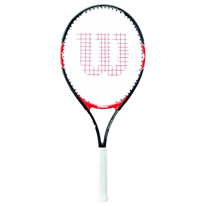 Wilson Roger Federer Raqueta, Unisex niños, Rojo (Red/Black), 23