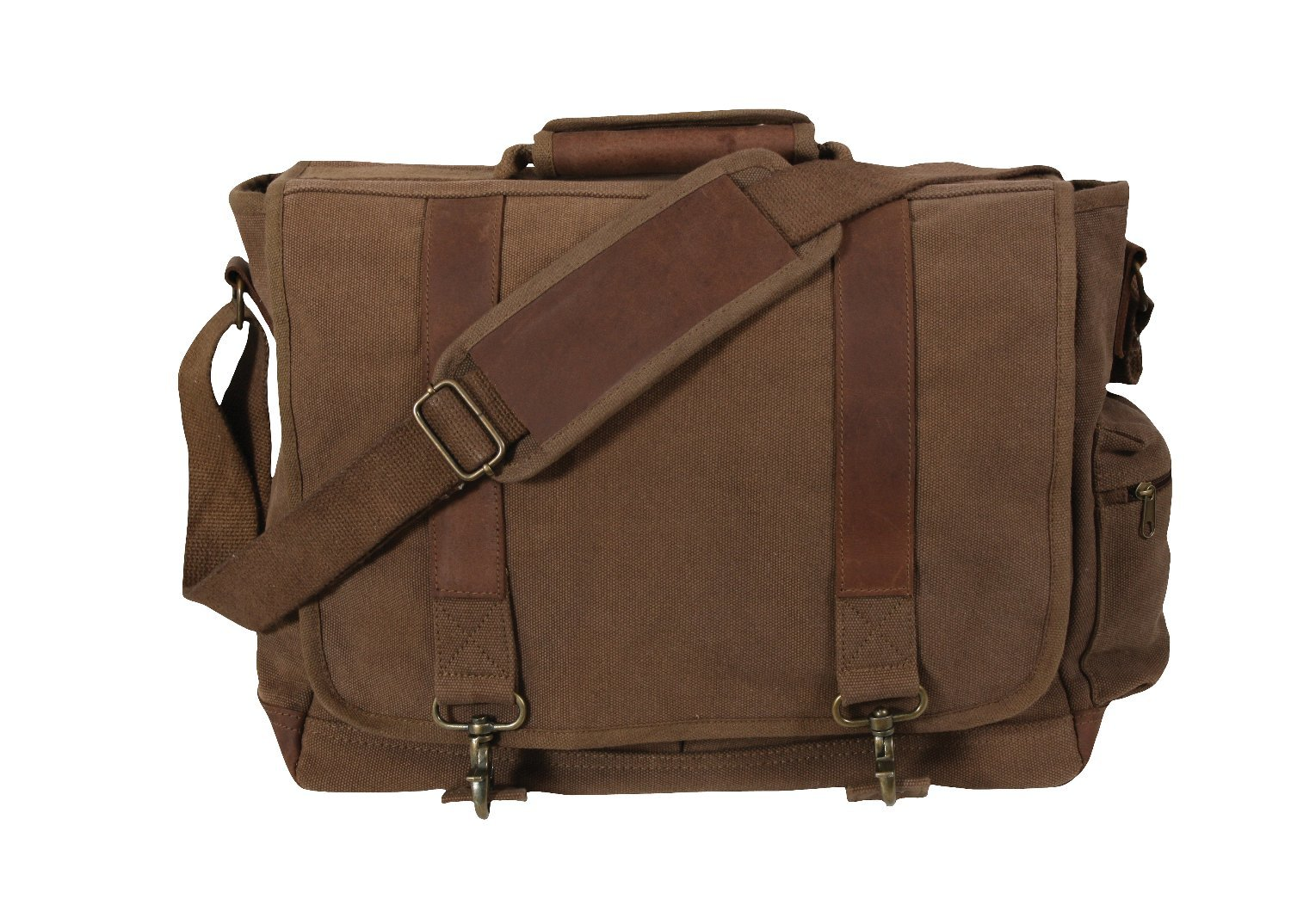 Rothco Canvas/Leather Pathfinder Laptop Bag, E. BROWN Size by Rothco