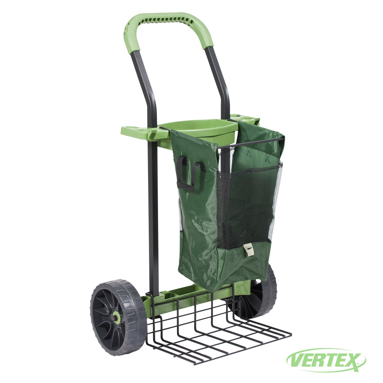 Super-Duty Yard & Garden Project Cart By Vertex With Never Flat Tires & 100 Lb. Capacity Lift Plate - Made In USA - Model SD380