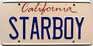 Celebrity Machines The Weekend ft Daft Punk   Starboy Metal Stamped License Plate