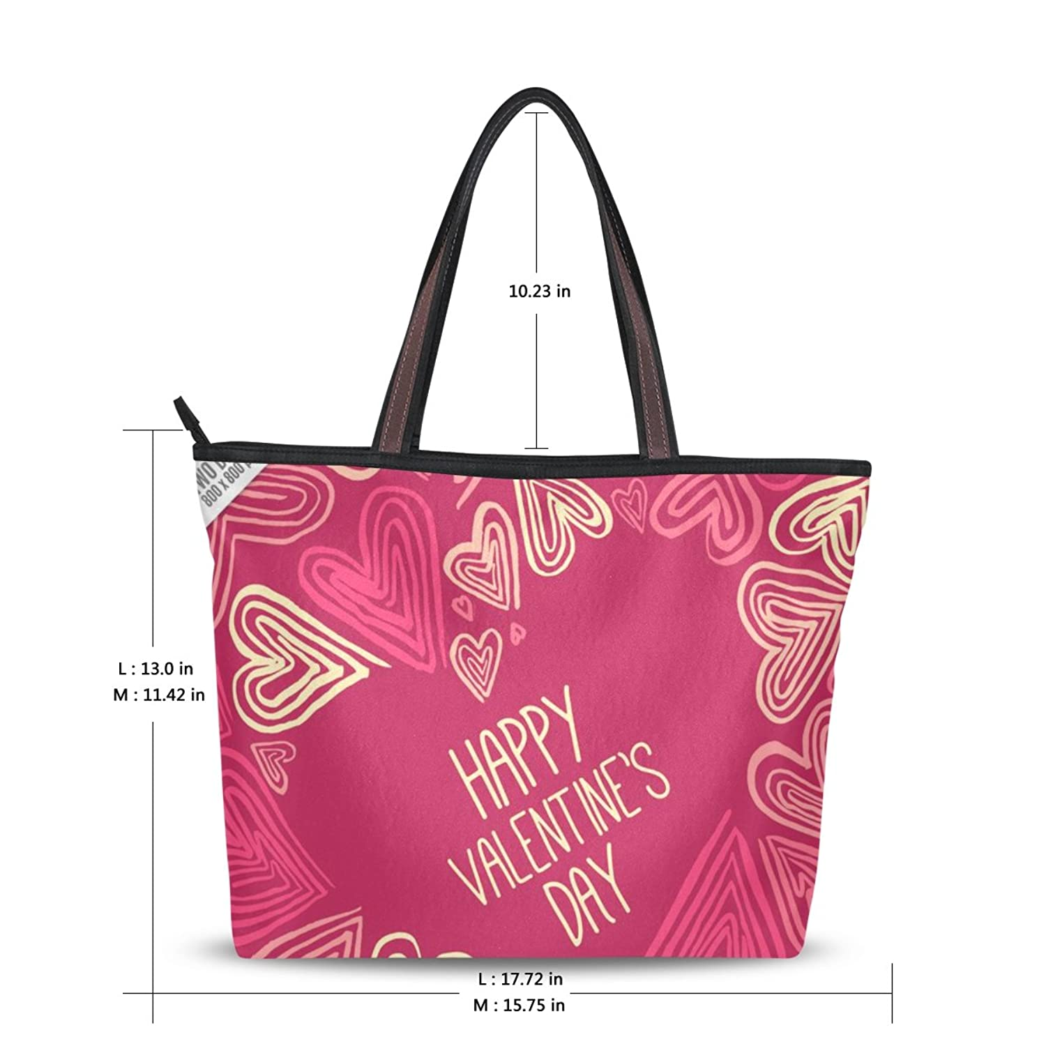 LEEZONE Casual Shoulder Handbag with Happy Valentine's Day Printing for Femal(Women,Lady,Girl)