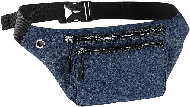 Camouflage Waist Belt Bum Bag Fanny Pack Hip Pouch Travel Sports Phone Pockets