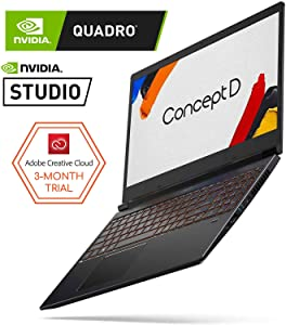 "ConceptD 3 CN315-71-791U Creator Laptop, Intel Core i7-9750H, NVIDIA GeForce GTX 1650, NVIDIA Studio, 15.6"" FHD IPS, 100% DCI-P3 Color Gamut, Pantone Validated, Delta E<2, 16GB DDR4,"