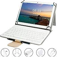 GOODTEL Tablet 10 Pollici Android 8.1, RAM 4 GB + ROM 64 GB, Quad-Core, 4G LTE Dual SIM Call, Doppia Fotocamera, MicroSD da 64 GB Espandibile, Type-C, WiFi GPS Bluetooth Media, oro