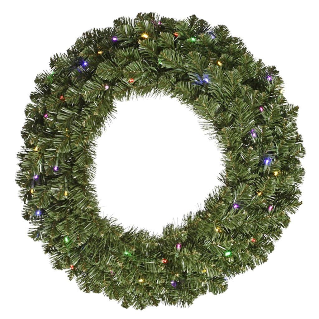 Vickerman 48'' Grand Teton Artificial Christmas Wreath - Multi LED Lights
