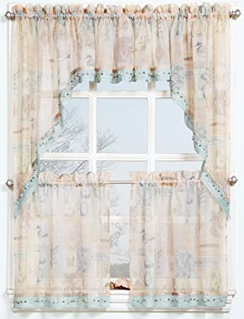 lorraine salem salemcurtains country sage tier kitchen curtains