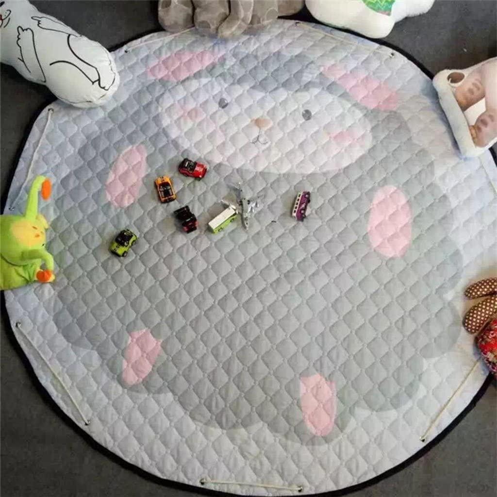 FLAMEER Spielmatte rund Spielteppich 150cm Kinderteppich Aufbewahrungsbeutel Aufr/äumsack Kinderzimmer Deko Autos in der Stadt