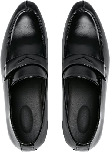 Men/'s Mixed Color Patent Leather Slip On Loafers Dress Formal Pointy Toe Shoes