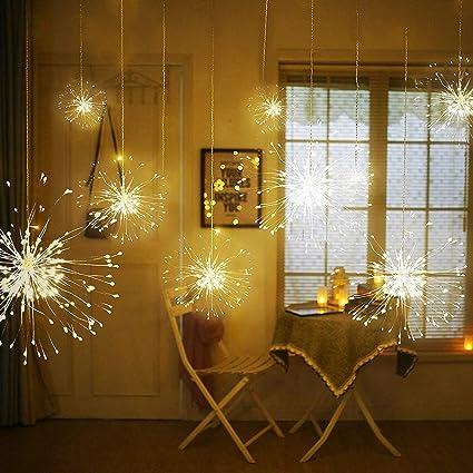 Amazon Com Masall Ip65 Waterproof Firework String Lights Battery