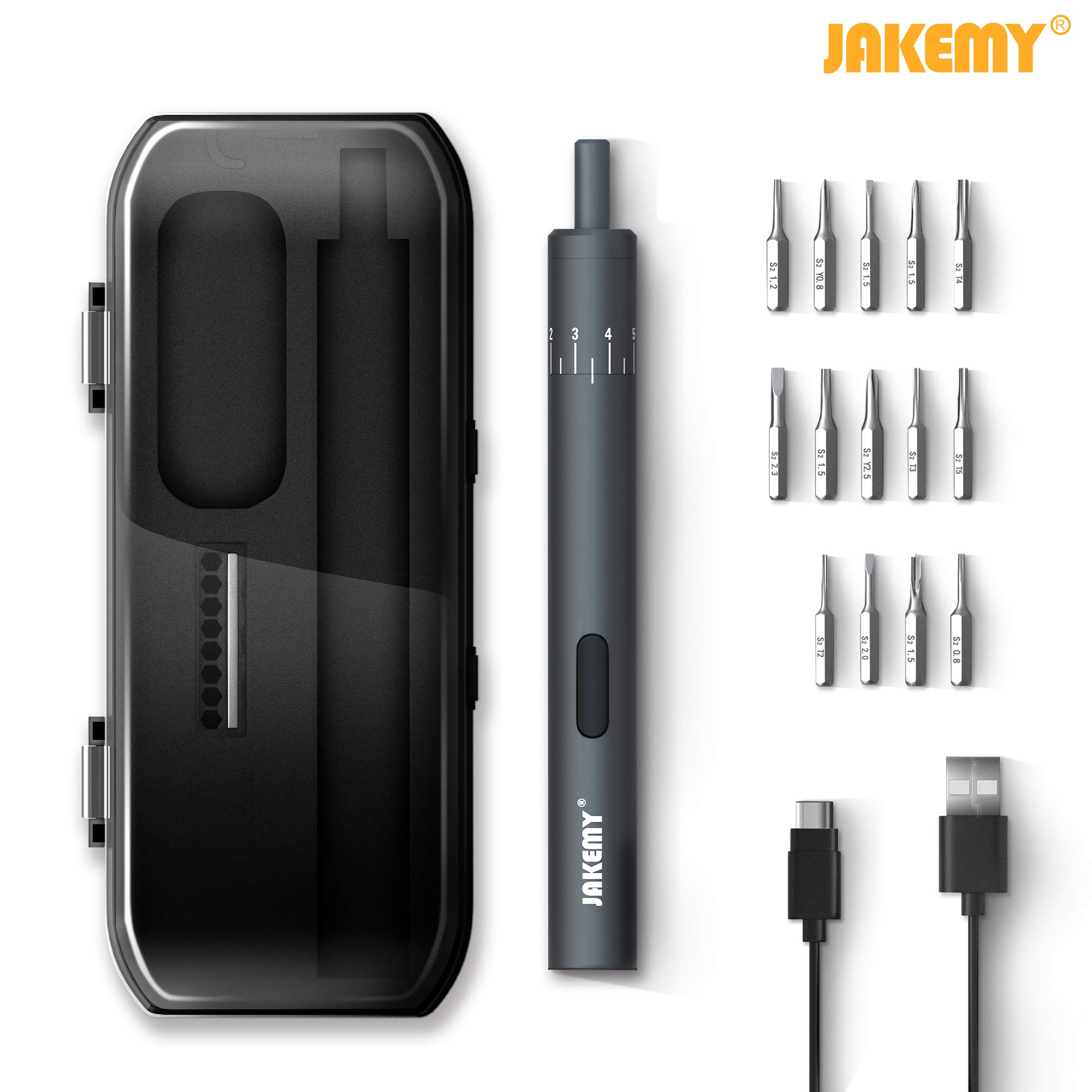 Jakemy 18 in 1 Electric Power Screwdriver Magnetic Precision Screwdriver Repair Tool Kit iPhone, Watch, Camera, Electric Device Repair