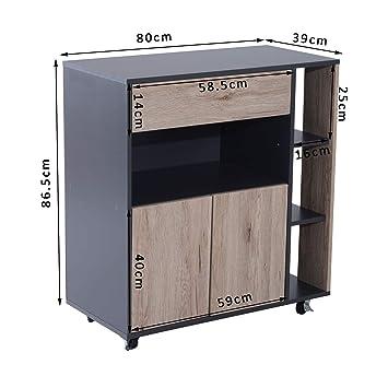 Mueble de Comedor genérico, Mueble de Buffet con Ruedas, para Cocina ...