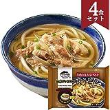 お水がいらない 肉うどん 4食セット キンレイ [501g(麺170g)×4] 冷凍うどん 国産 [スープ/3種の具材入り] 温めるだけの簡単調理