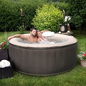 Therapurespa EST5868 4 Person Inflatable Portable Hot Tub With Storage Bag