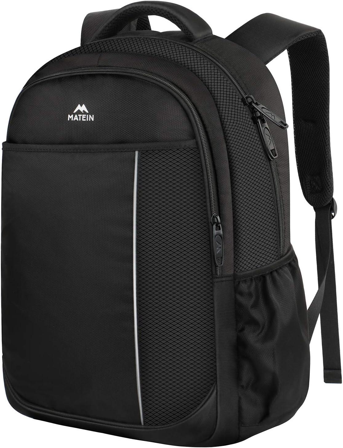 College Student Bookbag, Middle School Backpack Laptop Bag for Men Women Teens, Lightweight Water-Resistant School Computer Bag Fits 15.6 inch Laptop, Slim Daypacks for Boys Girls Black