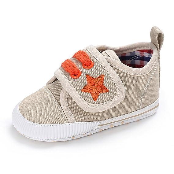 YanHoo Zapatos de Lona del Pesebre del bebé recién Nacido de los bebés de Las Muchachas