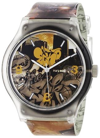 Marc Ecko Reloj Análogo clásico para Hombre de Cuarzo con Correa en Resina E06503M1: Marc Ecko: Amazon.es: Relojes