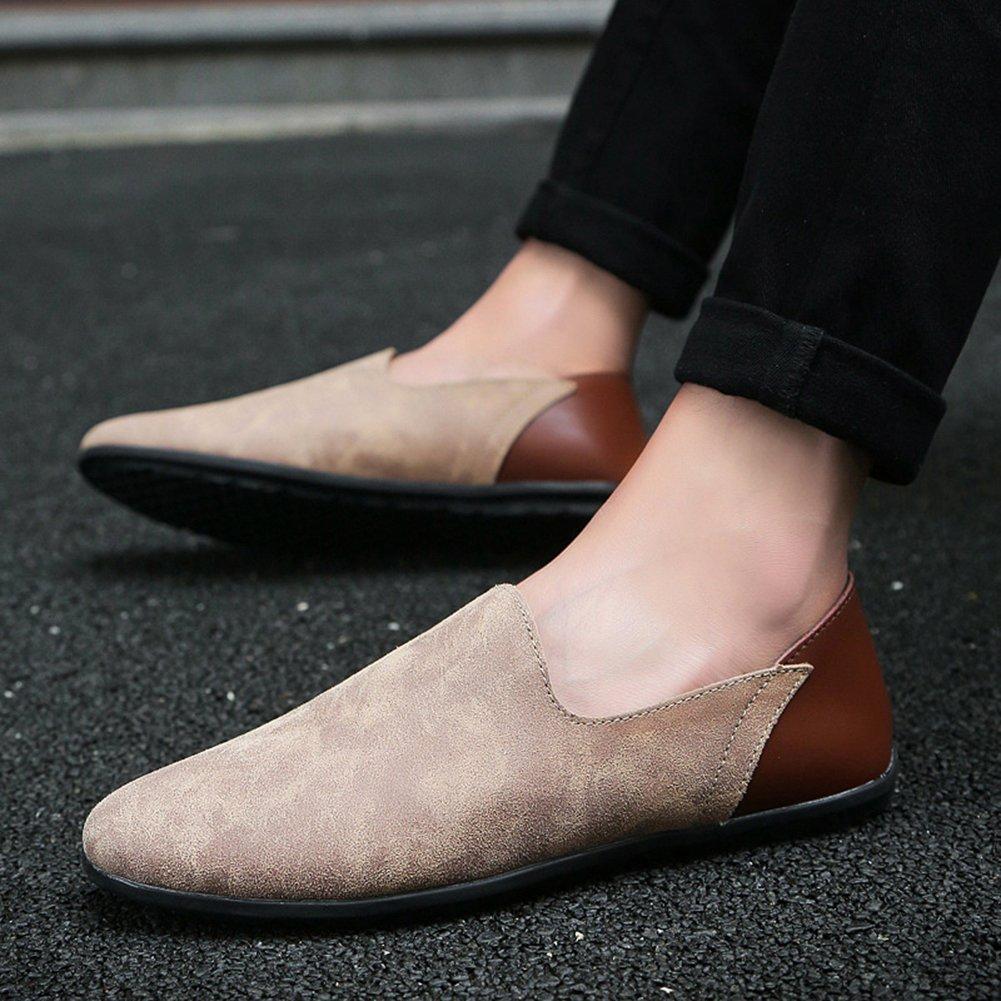 ICEGREY Herren Mokassin Fahren Slipper Freizeitschuhe Mode Loafer Schuhe Slipper Fahren Khaki 88b849