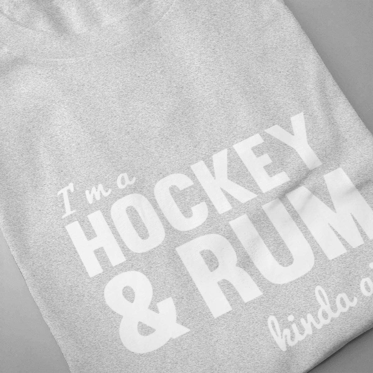 Luxendary Men Logo Hockey and Rum Hoodie Humor Tennis Round Neck Short Sleeve Shirt