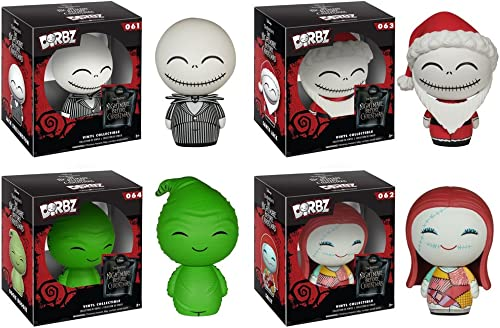 The Nightmare Before Christmas Jack Skellington, Sally, Oogie Boogie, Santa Jack Dorbz Vinyl Figures Set of 4