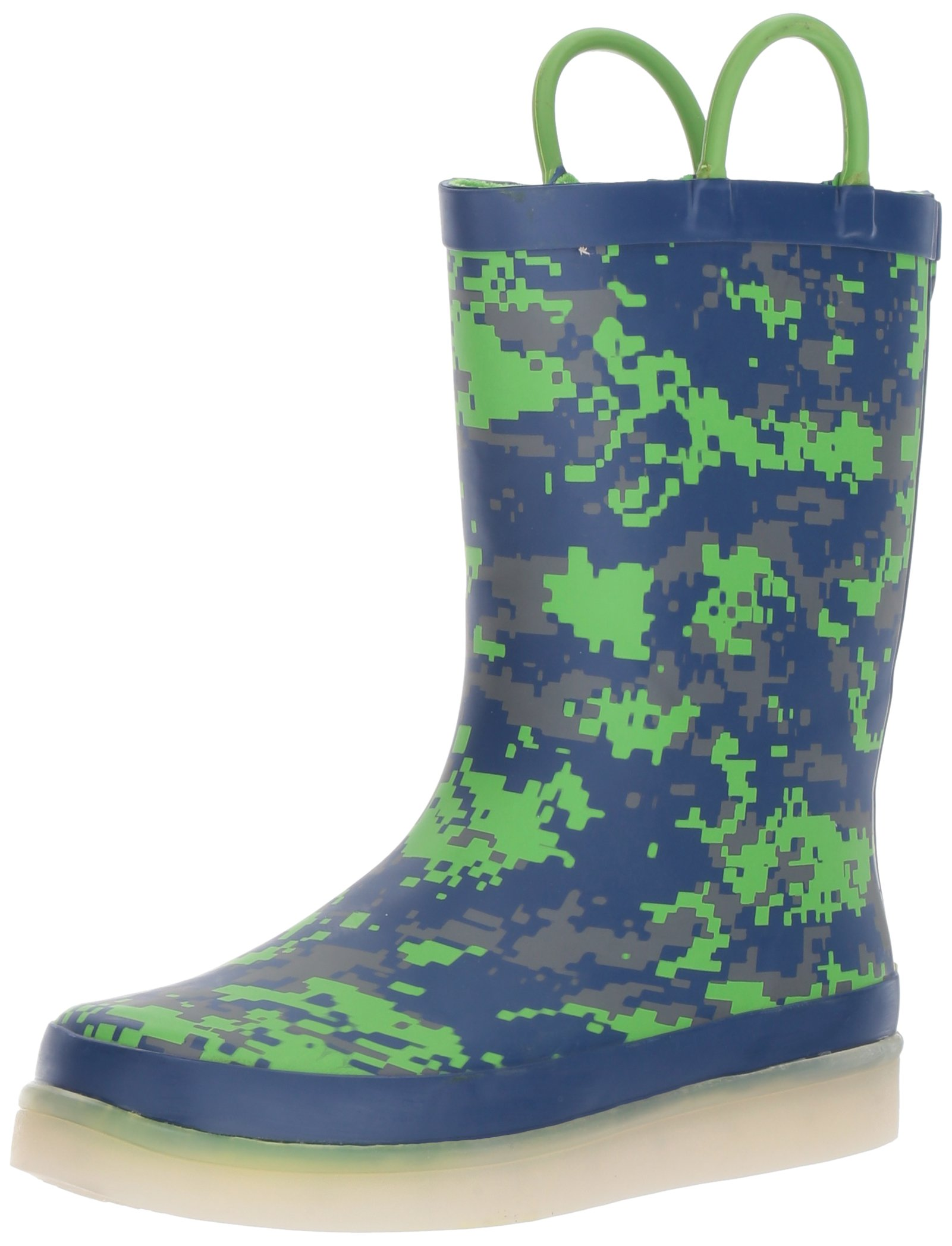 Western Chief Kids Rechargeable LED Rain Boot, Digital Camo, 10 M US Toddler
