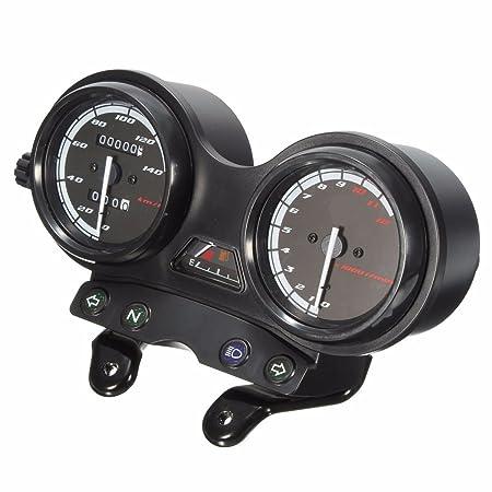 Ocamo Velocímetro Completo de los Relojes de la Motocicleta de DC 12V para Yamaha YBR 125: Amazon.es: Coche y moto