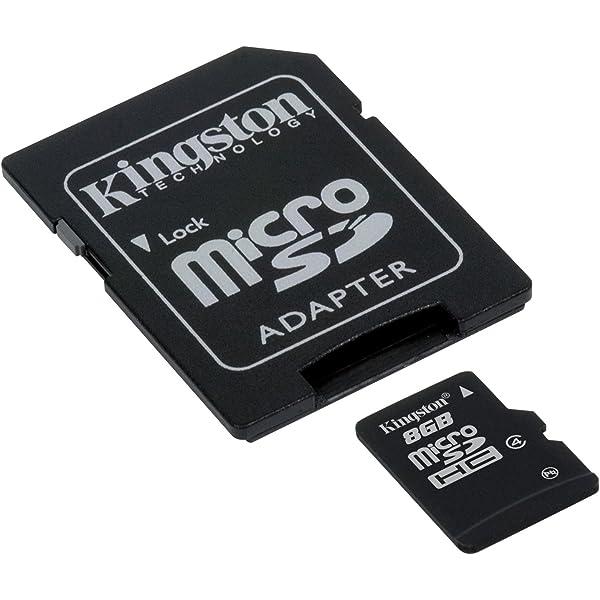 Kingston SDC4/8GB, Tarjeta micro SDHC de 8 GB, Negro: Kingston ...