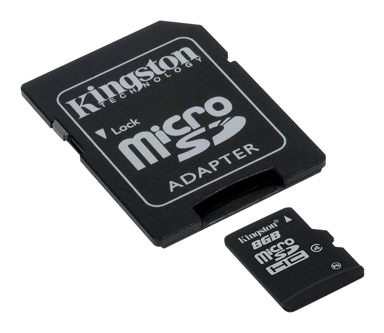 Amazon Kingston 8 GB MicroSDHC Class 4 Flash Memory Card SDC4 8GBET Electronics