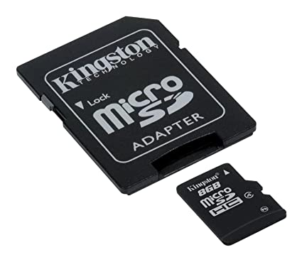 Kingston 8 GB microSDHC Class 4 Flash Memory Card SDC4/8GB