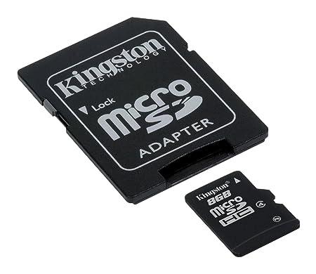 Kingston 8 GB microSDHC Card    Class 4    8  GB Micro SD Cards