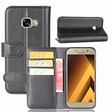huge discount 74b34 721a4 Samsung Galaxy A5 2017 Case, DISLAND Magnetic Flip Genuine Leather Closure  Stand Fashion Wallet Pouch Cover Case Cover for Samsung Galaxy A5 2017 with  ...